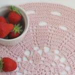 Dust pink placemat - Doily series -..