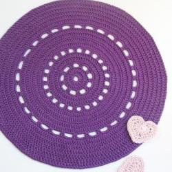 Purple shiny placemat - Doily series - cotton
