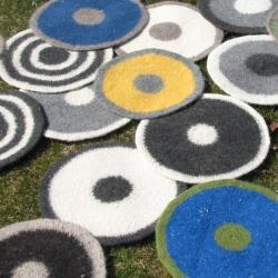 Felted placemat - Mixed yarn series - Colors